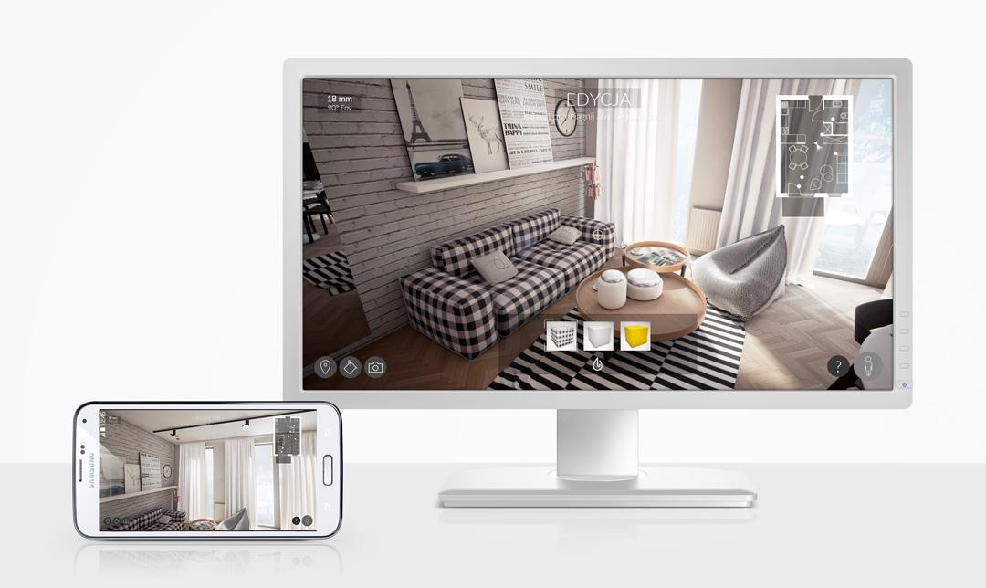 Interaktywna wizualizacja architektoniczna. ColorDrop Studio - nowy wymiar wizualizacji architektonicznych.
